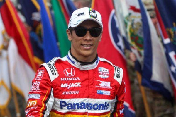 Aug 18, 2019; Long Pond, PA, USA; Indycar driver Takuma Sato walks on pit road prior to the ABC Supply 500 at Pocono Raceway.
