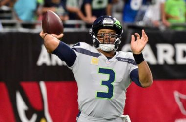 Sep 30, 2018; Glendale, AZ, USA; Seattle Seahawks quarterback Russell Wilson (3) warms up prior to a game against the Arizona Cardinals at State Farm Stadium. Mandatory Credit: Matt Kartozian-USA TODAY Sports