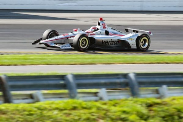 Aug 18, 2019; Long Pond, PA, USA; Indycar driver Will Power (12) races during the ABC Supply 500 at Pocono Raceway.