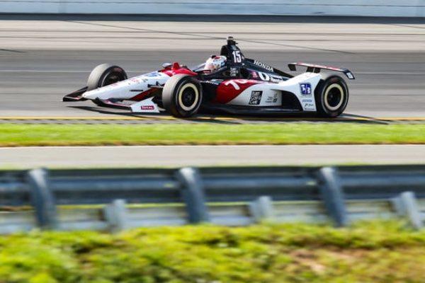 FILE -- Graham Rahal racing in 2019.